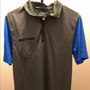 Men's Grey Nike Golf Polo